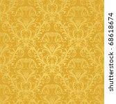 Luxury Seamless Golden Floral...