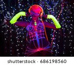 fantastic video of sexy cyber... | Shutterstock . vector #686198560