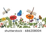 vector vertical border with... | Shutterstock .eps vector #686208004