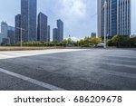 empty floor with modern... | Shutterstock . vector #686209678