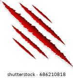 red claws scratches with animal ... | Shutterstock .eps vector #686210818