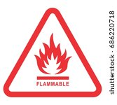 flammable | Shutterstock .eps vector #686220718