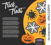 halloween day   vector... | Shutterstock .eps vector #686233894