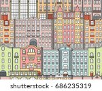 buildings in the old town.... | Shutterstock .eps vector #686235319