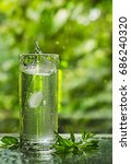 cool fresh water with ice and... | Shutterstock . vector #686240320