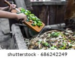 child's hands throwing out... | Shutterstock . vector #686242249