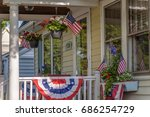 american colonial house... | Shutterstock . vector #686254729