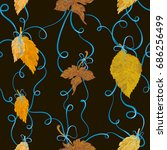 Autumn Foliage Tied With Blue...