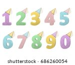 set of volume numbers with... | Shutterstock .eps vector #686260054