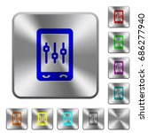 mobile tweaking engraved icons... | Shutterstock .eps vector #686277940