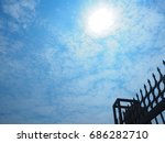 edge of the fence with the sky | Shutterstock . vector #686282710