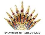 nine head of king nagas in...   Shutterstock . vector #686294239
