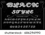 font.alphabet.script.typeface... | Shutterstock .eps vector #686296990