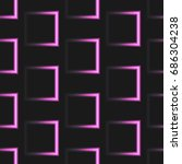 neon square pattern vector | Shutterstock .eps vector #686304238