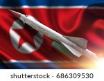 the rocket to launch. the flag... | Shutterstock . vector #686309530