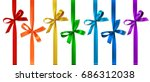 set of colored bow with... | Shutterstock .eps vector #686312038