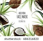 beautiful vector floral... | Shutterstock .eps vector #686316820