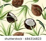 beautiful vector floral... | Shutterstock .eps vector #686316823