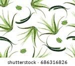 beautiful vector floral... | Shutterstock .eps vector #686316826