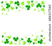 illustration of clover leaves... | Shutterstock . vector #686317060