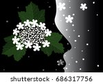 background with a flower of a... | Shutterstock .eps vector #686317756