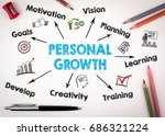 personal growth concept. chart... | Shutterstock . vector #686321224