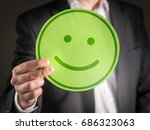 business man with happy... | Shutterstock . vector #686323063