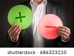 pros and cons concept. business ... | Shutterstock . vector #686323210