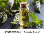 a bottle of peppermint... | Shutterstock . vector #686325610