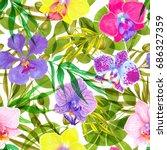 watercolor marker seamless... | Shutterstock . vector #686327359