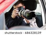 side view of a private... | Shutterstock . vector #686328139