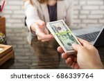 close up of a person giving... | Shutterstock . vector #686339764