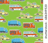 car and transportation theme... | Shutterstock .eps vector #686349520