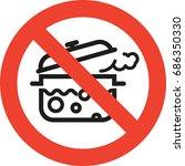 pan not boil sign | Shutterstock .eps vector #686350330