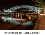 night view of the bridge of... | Shutterstock . vector #686355454