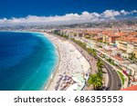 nice  france   july 2017  ... | Shutterstock . vector #686355553