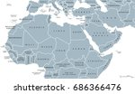 north africa and middle east... | Shutterstock .eps vector #686366476