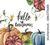 Watercolor Hello Autumn...