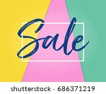 sale background design with... | Shutterstock .eps vector #686371219