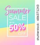 summer sale background design... | Shutterstock .eps vector #686371243