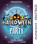 halloween party cartoon | Shutterstock .eps vector #686378620