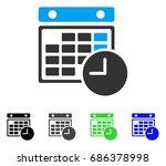time table flat vector... | Shutterstock .eps vector #686378998