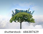 eco life concept . mixed media | Shutterstock . vector #686387629