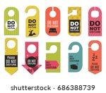 please do not disturb hotel... | Shutterstock .eps vector #686388739