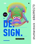 abstract modern toys design... | Shutterstock .eps vector #686390173