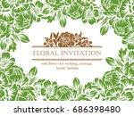 vintage delicate invitation... | Shutterstock . vector #686398480
