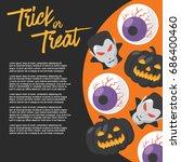 halloween day   vector... | Shutterstock .eps vector #686400460