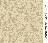 floral seamless pattern. soft...   Shutterstock .eps vector #686418274