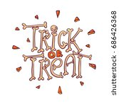 trick or treat cartoon vector...   Shutterstock .eps vector #686426368