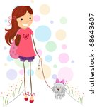 Illustration Of A Girl Taking...